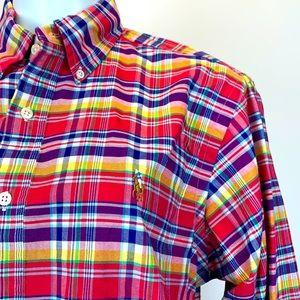 Polo Ralph Lauren plaid madras button down shirt